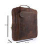 Pinato(PL-5918) Genuine Leather Backpack Brown for Women & Men