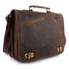 Pinato(PL-6218) Genuine Leather Messenger Laptop Bag for Men & Women