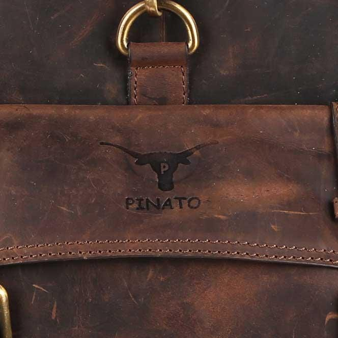 Pinato(PL-7717) Genuine Leather Cognac Backpack for Men & Women