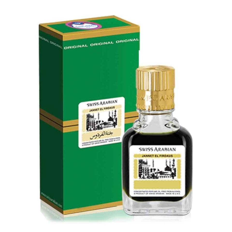 Swiss Arabian Jannet El Firdaus Green 9ml Attar Perfume, fragrance for men & women