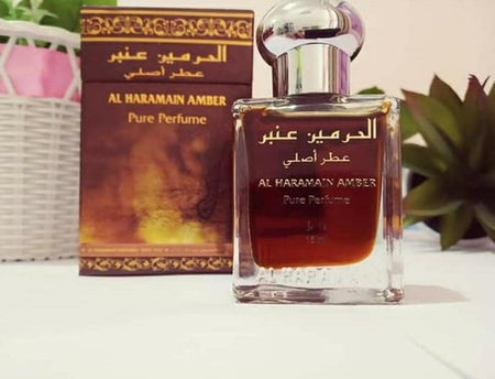 Al Haramain Amber Pure Perfume Attar 15ml Bottle