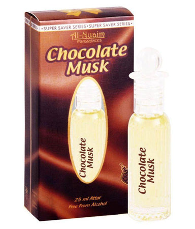 Al Nuaim Chocolate Musk Attar Roll On 25ml Pack