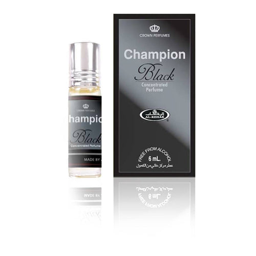 Al Rehab Champion Black Concentrated Perfume Oil 6ml
