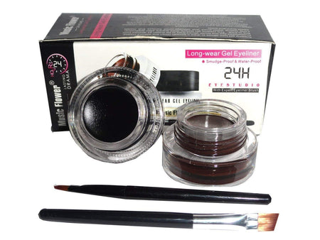 Music Flower 24 hours Long Wear Gel Eyeliner Black & Brown