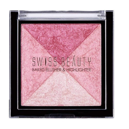 Swiss Beauty Baked Blusher & Highlighter Shade 03 (SB-806-03)