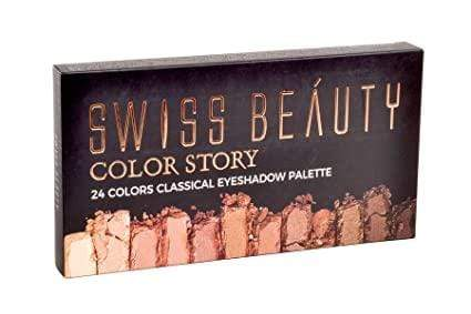 Buy Original Swiss Beauty 24 Colors Classical Eye shadow Palette SB-708-01 Lowest Price Online, Cash On Delivery Available