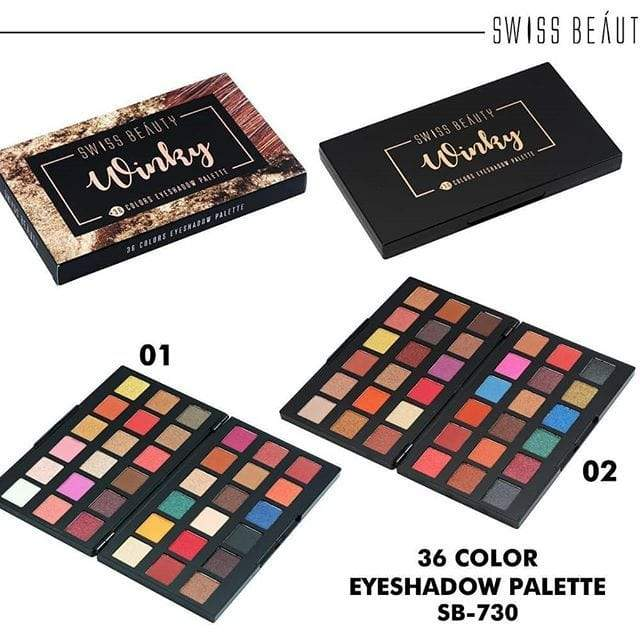 Buy Swiss Beauty 36 Colors Eyeshadow Palette WINKY Low Price Online, Cash On Delivery Available