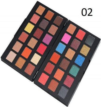 Swiss Beauty 36 Colors Eyeshadow Palette Shade 02 (SB-730-02)