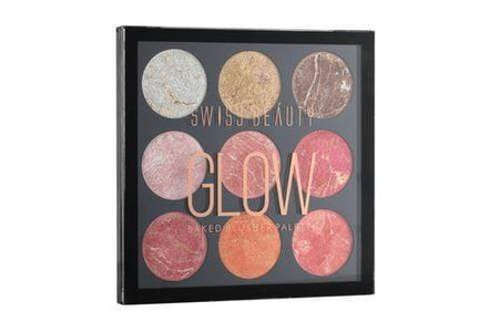 Swiss Beauty Glow Baked Blusher Palette Highlighter Shade -02 (SB-815-02)