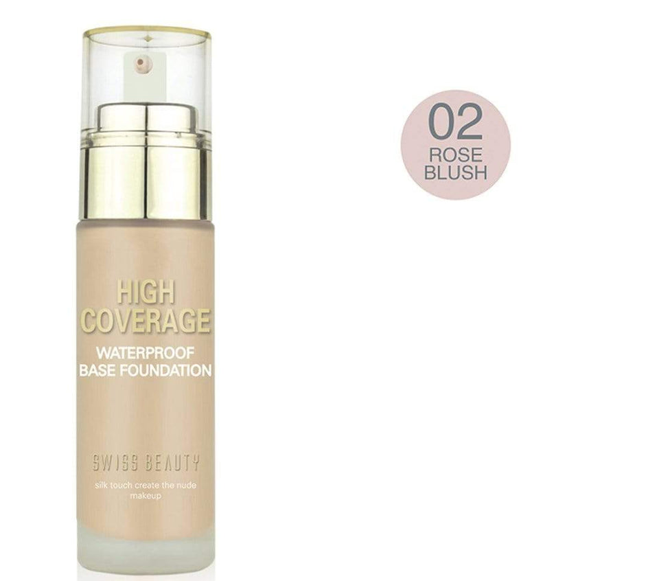 Swiss Beauty High Coverage Waterproof Base Foundation Rose Blush (SB-05-02)