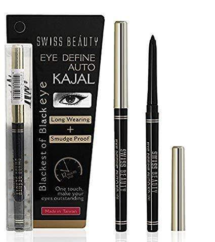 Buy Original Swiss Beauty Blackest of Black Eye Define Kajal Pencil Lowest Price Online in India, Cash On Delivery Available