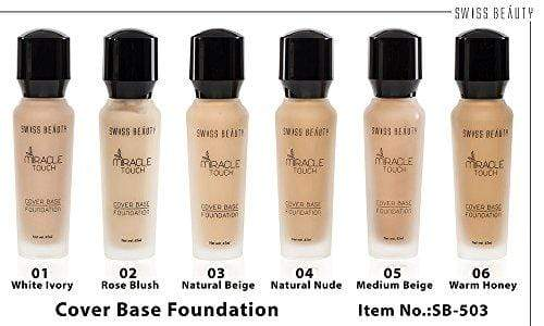 Swiss Beauty Miracle Touch Cover Base Foundation SPF 15 Color-05 (Medium Beige)(SB-503-05)