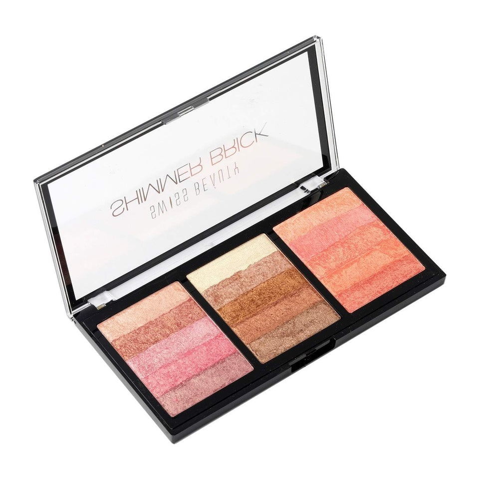 Buy Original Swiss Beauty Shimmer Brick Palette Highlighter SB-824-01 Lowest Price Online In India