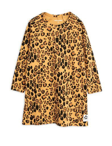 MINI RODINI / Basic leopard dress LAATSTE 140-146!
