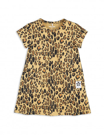 MINI RODINI / Basic Leopard dress LAATSTE 92/98!