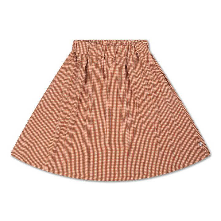 REPOSE / Midi skirt copper check