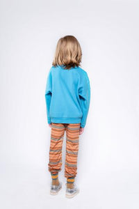REPOSE / Stranger pants orange inky stripe