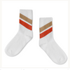 REPOSE / Socks white red diagonal