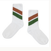 REPOSE / Socks white green diagonal