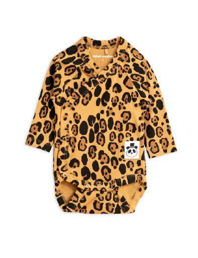 MINI RODINI / Basic leopard wrap body, BABY