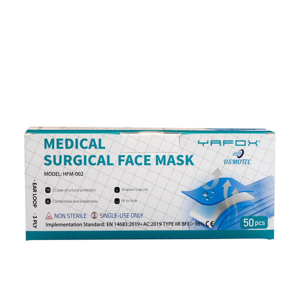 *Wholesale* Surgical Mask Type IIR 3-Ply - 500 Units