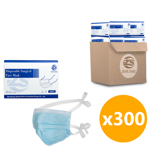 *Wholesale* Surgical Face Mask ASTM Level 3, Tie-Back - 300 Units
