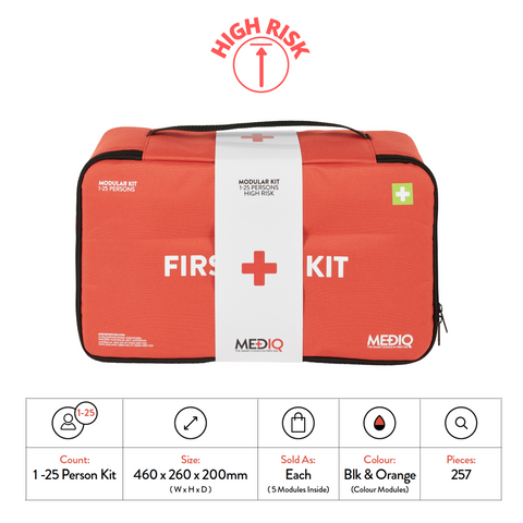 Mediq Incident Ready First-Aid Kit - Soft Pack (High Risk)