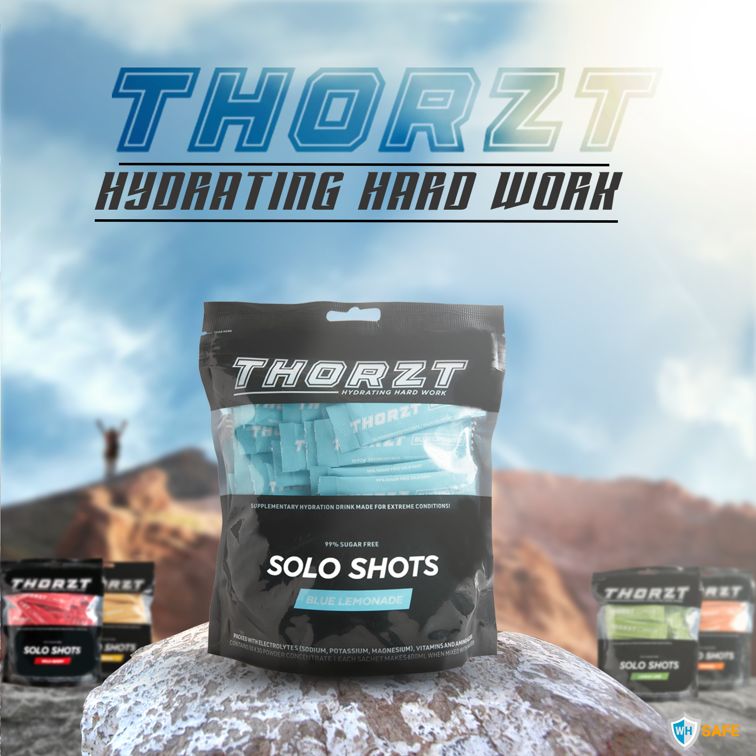 Thorzt Sugar-Free Solo Shot Electrolytes - Blue Lemonade 50 x 3g
