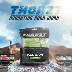 Thorzt Sugar-Free Solo Shot Electrolytes - Lemon Lime 50 x 3g