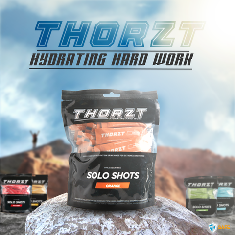 Thorzt Sugar-Free Solo Shot Electrolyte - Orange 50 x 3g