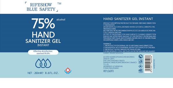 *Wholesale* Blue Safety Alcohol-Based Sanitiser Gel (500mL) - 24 Units