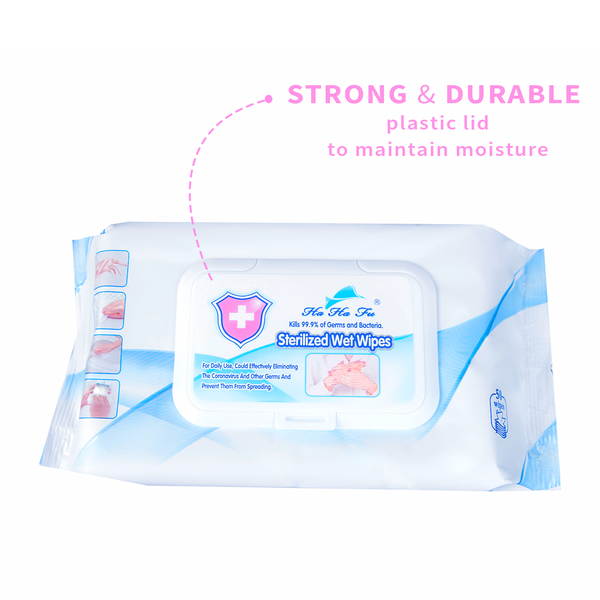 Alcohol-Free Sterilised Disinfecting Wipes (50 wipes per pack)