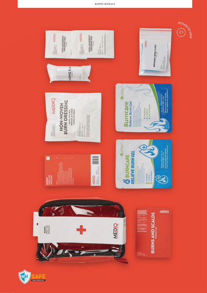 Mediq Burns Incident Ready First-Aid Module (Soft Pack)