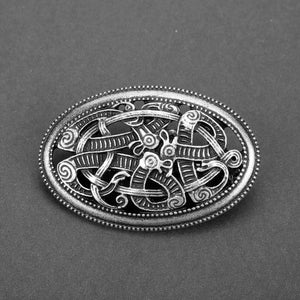 Outlander Brooch Thistle Celtic Knot Kilt Pin  Scottish National Jewelry