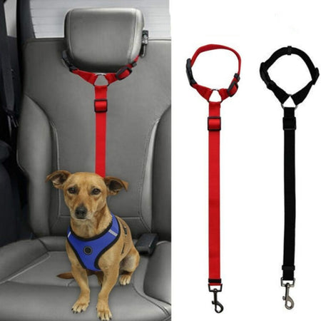 Pet Safety Adjustable Car Seat Belt Harness Leash