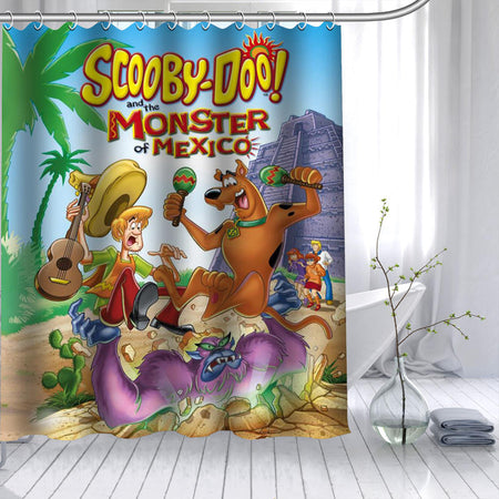New Arrival Scooby Doo Dog Shower Curtain  12 Hook Bath Curtain