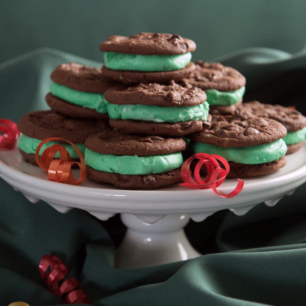 Double Chocolate Mint Cookie Whoopie Pie