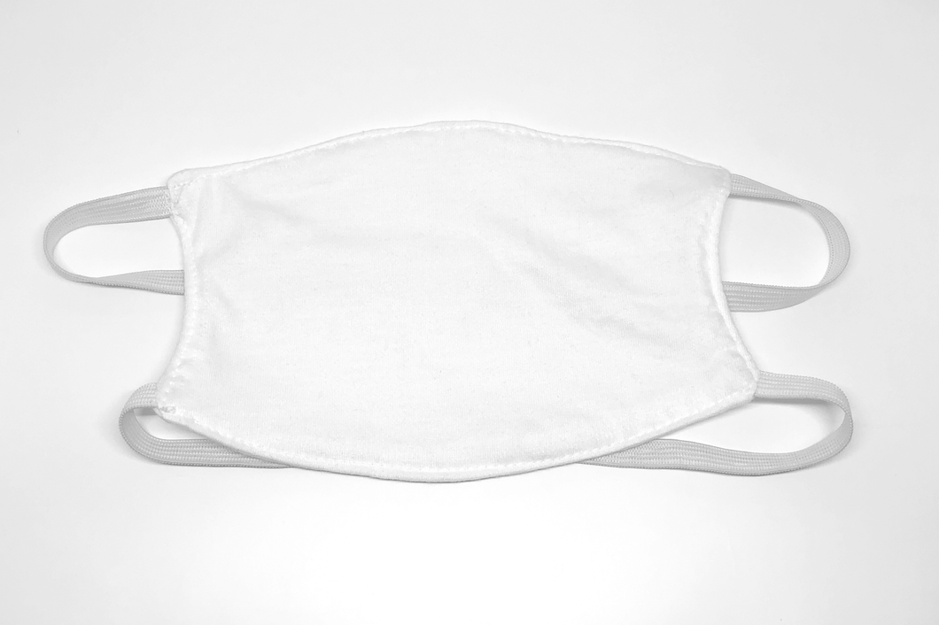 White Reusable Cloth Face Mask - Box of 500