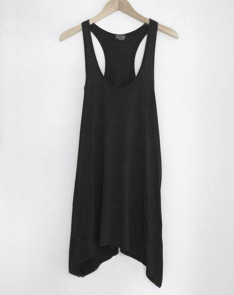 Black Flowy Tank Dress