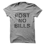 Heather Gray Post No Bills Spray Paint Graphic T-Shirt