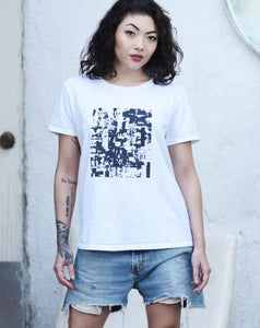 Basic Grunge Print T-shirt - Art by Grafik Girl