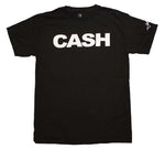 "CASH - Johnny Cash Black T-shirt with White ""CASH"" Lettering"