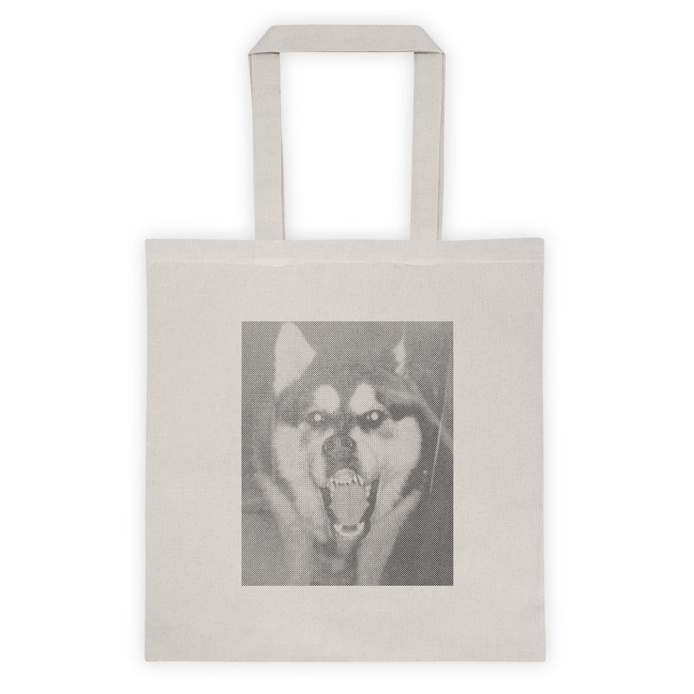 Wolf Dog Natural Canvas Tote bag