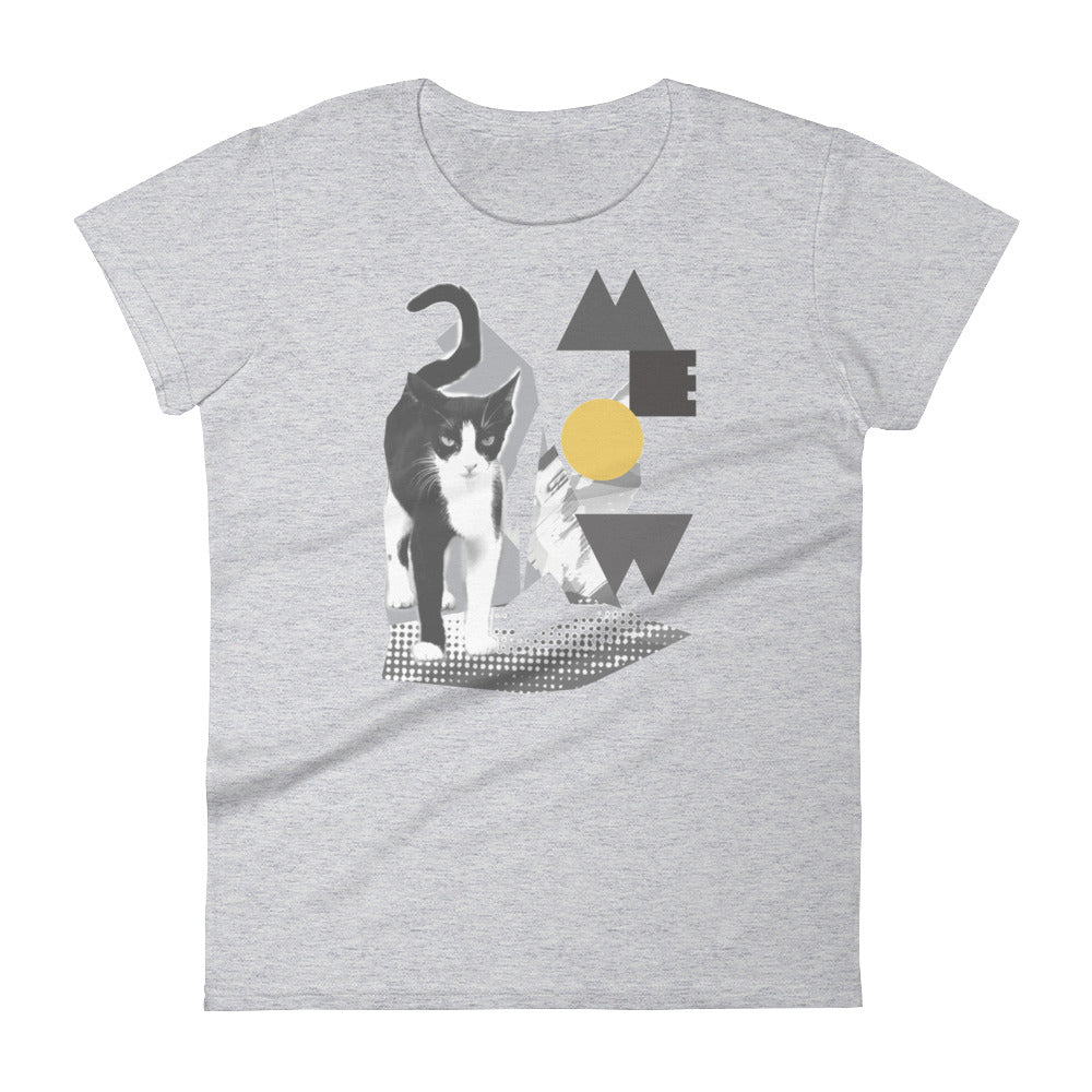 Sinister Cat - Collage Art Tee