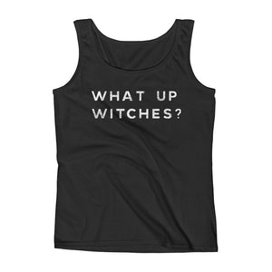What Up Witches Black Tank Top