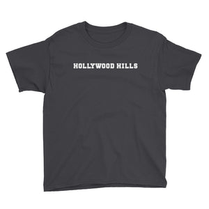 Hollywood Hills Sign - Youth Short Sleeve T-Shirt