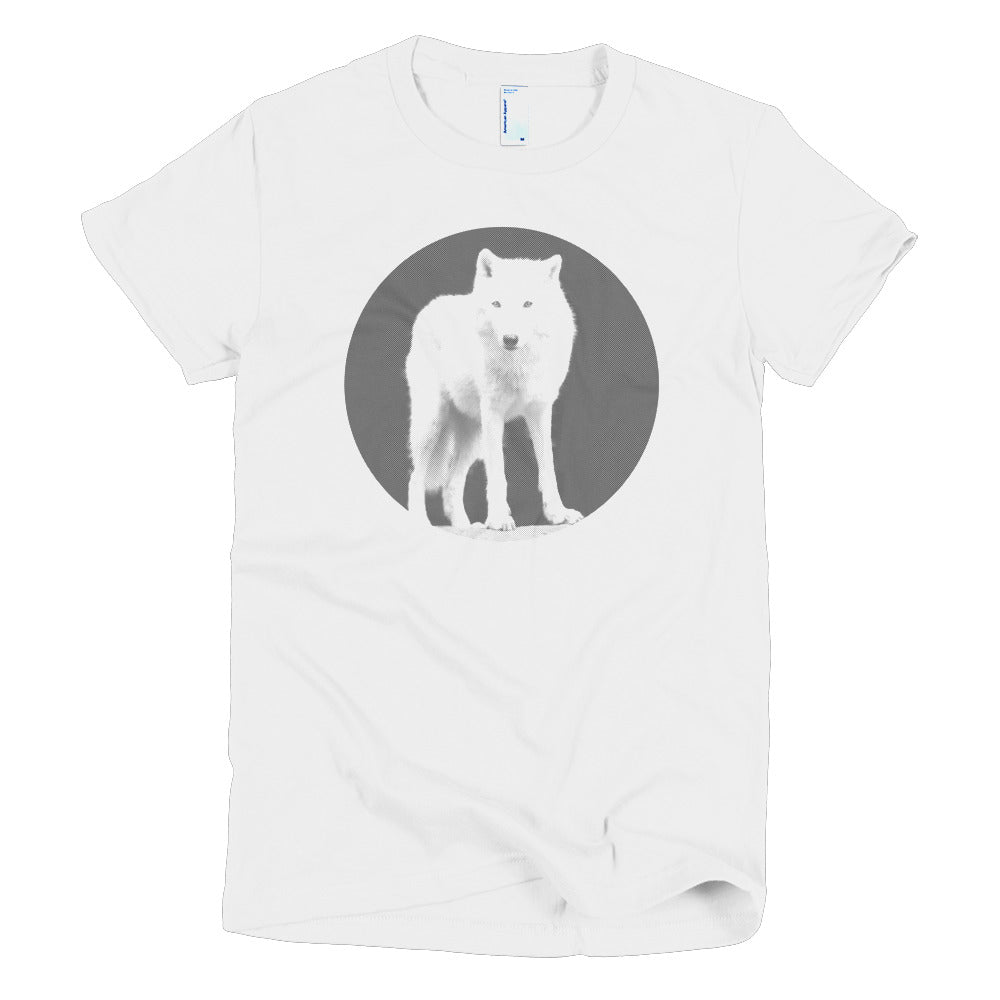 Wolf Circle Black And White T-Shirt (Women's Fit)