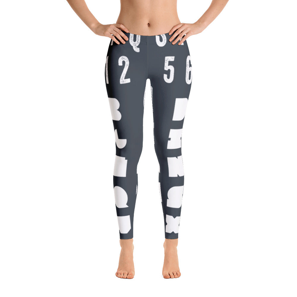 Alphabet Meaningless Leggings - Yoga Pants