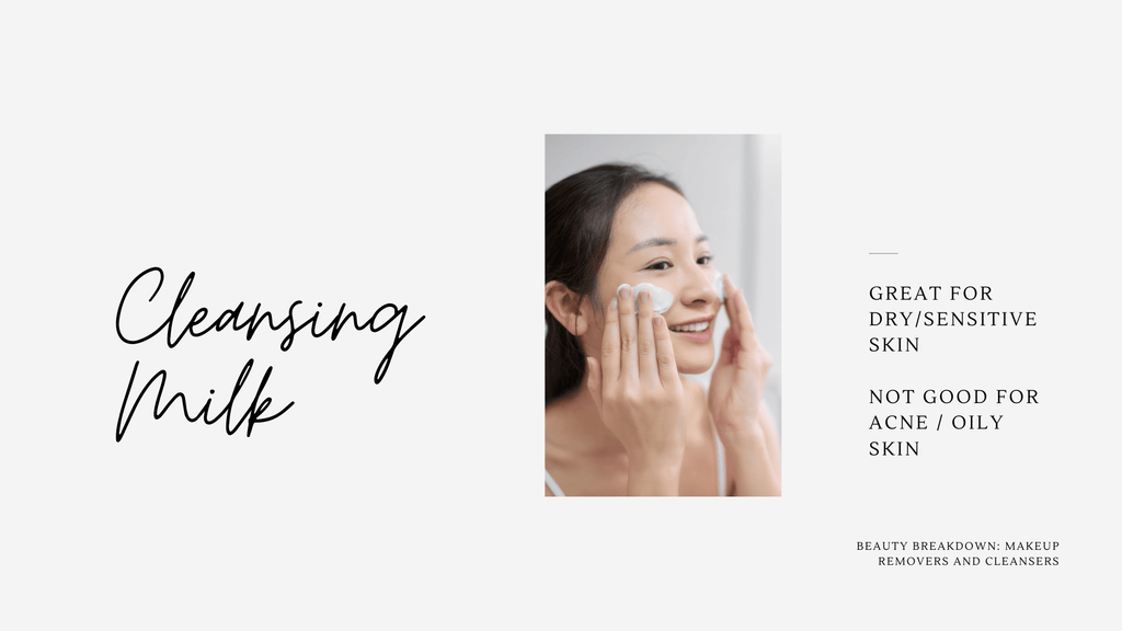 Cleansing milk is one of the best facial cleanser for sensitive skin