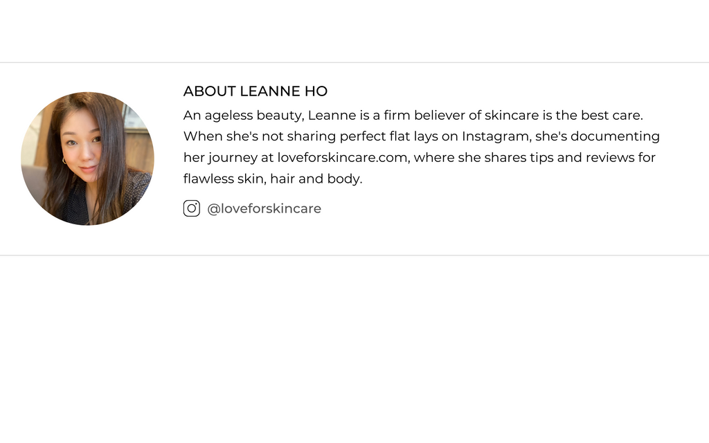 Leanne Ho is an ageless beauty who blogs about beauty care for flawless skin, hair and body